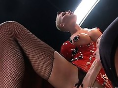 """TsSeduction Feature Film """"Cabaret"""": Ts Danni Daniels buries her dick deep in Christian's throat and ass, fucking every hole he has as h"""