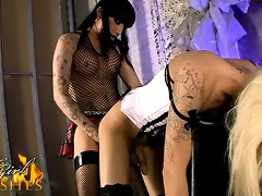Amazing tgirl Ashley gets drilled by Kelly
