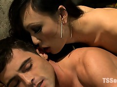 Kissing, fucking, cocksucking and HUGE cum loads from TS Venus all over her man's face. She then takes his full load in her mouth.