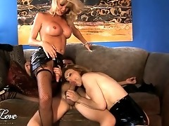 Alluring TS Olivia Love in a sweet threesome