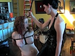 Horny Mandy giving a lesson to the intruder