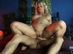 Naughty Jasmine banging Heidi's tight little pussy