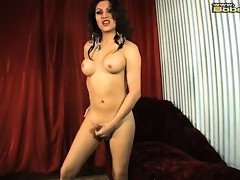 Stunning Selina Malone stroking off her juicy dick