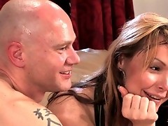 Ts Danielle Foxxx ass fucks her slave with her big shemale cock