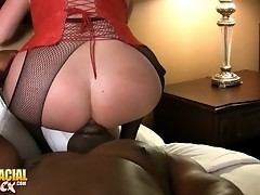 Sweet tgirl gets licked and fucked by a black dude