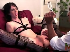 Irresistible Mandy Mitchell gets roughly punished
