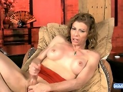 Mature tranny Jasmine Jewels jerking off