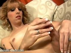 Horny secretary exposing her goods