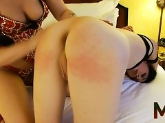 Naughty transsexual Mandy gets her tight asshole fucked