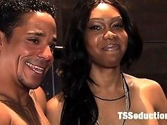 Ts Sexy Jade reams her slave boy, ass fucking, mouth fucking