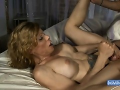 Naughty Jasmine getting her asshole drilled hard by Kim